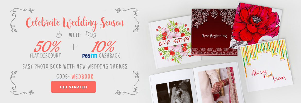 New Wedding theme covers for Easy Book at 50% Off, Use Code- WEDBOOK.