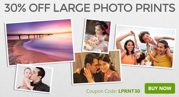 30% off all large photo prints!
