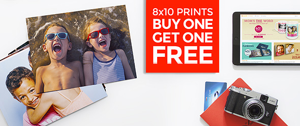 Buy One Get One Free on 8x10 sized prints!
