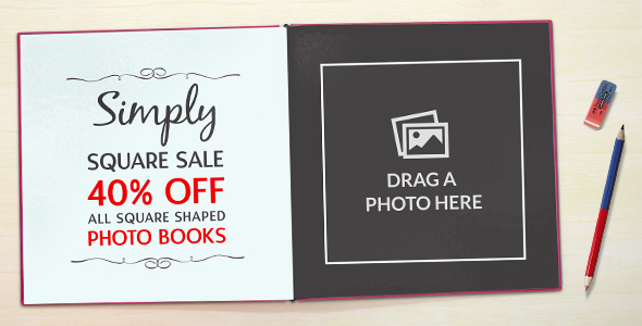 40% off all Square shaped Photo Books!