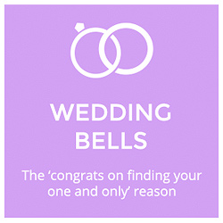 Wedding Bells  The 'congrats on finding your one and only' reason