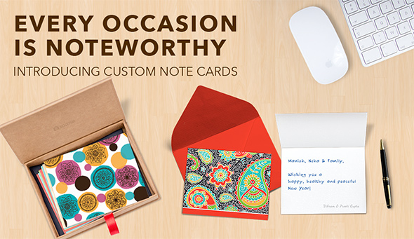 INTRODUCING CUSTOM NOTE CARDS
