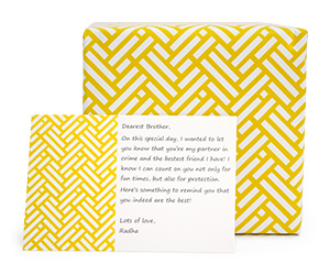 GIFT WRAP AND GIFT CARD
