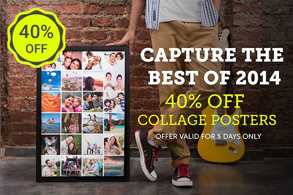 40% OFF COLLAGE POSTERS