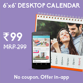 CREATE A 6X6 DESKTOP CALENDAR ON YOUR PHONE FOR RS.99