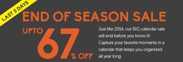 UPTO 67% OFF ALL CALENDARS