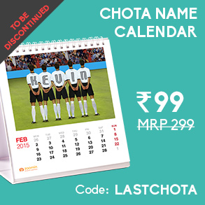 CHOTA NAME CALENDAR FOR RS. 99