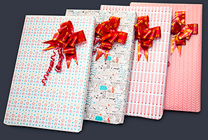 FOUR NEW GIFT WRAPS TO CHOOSE FROM