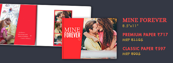 8.5x11 PHOTO BOOK AT RS. 717 MRP RS. 1195