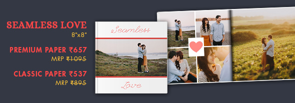 8X8 PHOTO BOOK AT RS. 657 MRP RS. 1095