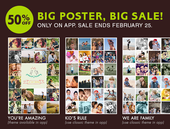 50% OFF 20X30 COLLAGE POSTERS ONLY ON ZOOMIN APP - SALE ENDS FEB-25