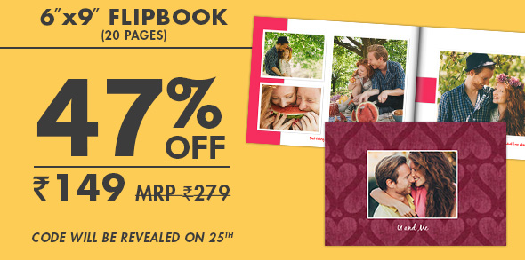 6X9 FLIPBOOK (20 PAGE) FOR JUST RS. 149 MRP RS. 279 - code will be revealed on 25th