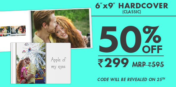6X9 HARDCOVER PHOTO BOOK (classic) FOR JUST RS. 299 MRP RS. 595 - code will be revealed on 25th