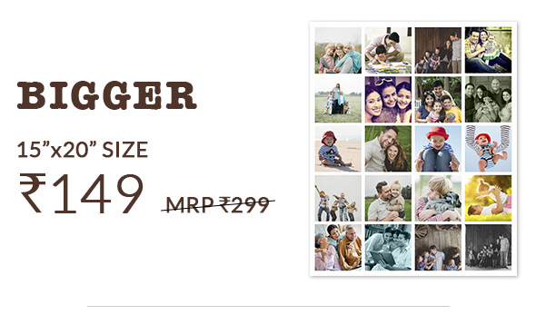 15X20 POSTERS AT RS. 149, MRP RS. 299.