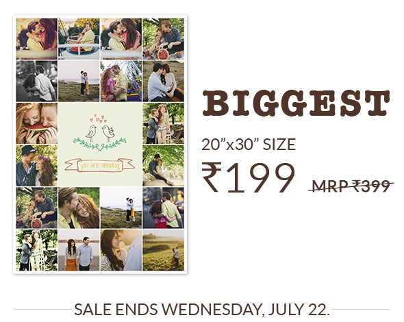 20X30 POSTERS AT RS. 199, MRP RS. 399.