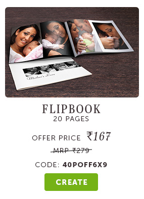 6x9 Flipbooks at Rs. 167. Use code: 40POFF6X9
