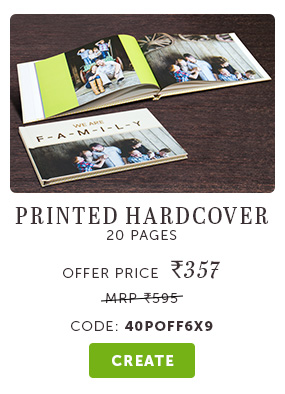 6x9 Hardcover at Rs. 357. Use code: 40POFF6X9