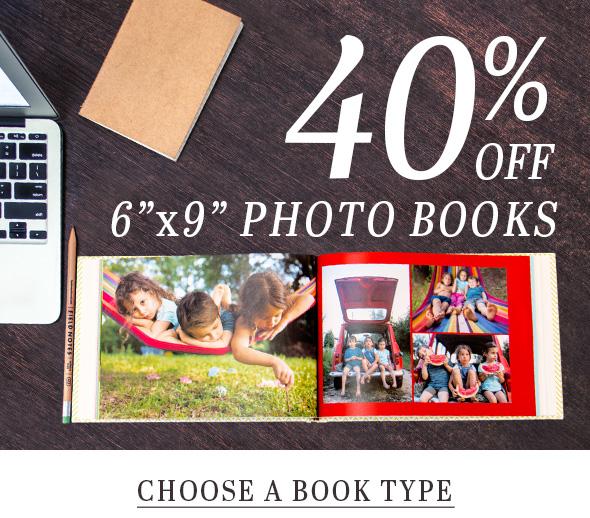 40% OFF 6x9 photo books