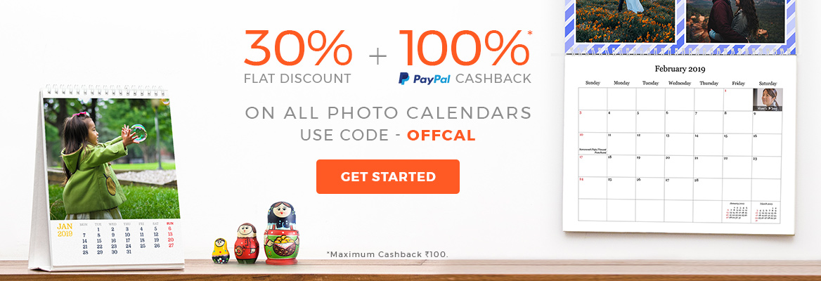 30% off on all Photo Calendars. Use code 'OFFCAL'.